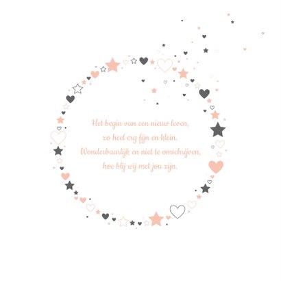 Geboorte cirkel met sterren en hartjes 2