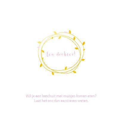Geboorte - Cirkels in goudkleur en roze hartjes  2