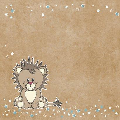 Geboorte felicitatie grappige kaart met stoere leeuw 2