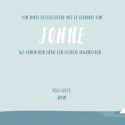 Geboorte felicitatie kaartje met getekende ijsberen 2