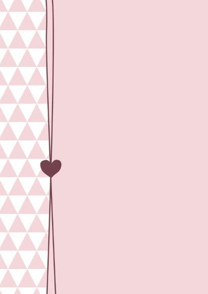 Geboorte - Foto, roze driehoek 2
