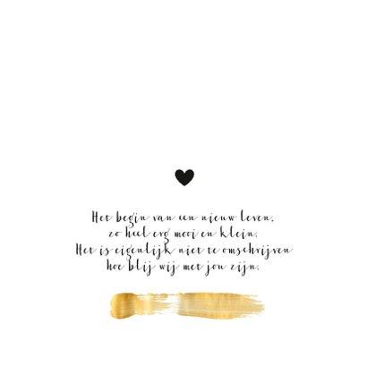 Geboorte - Goudverf vegen en hartjes 2