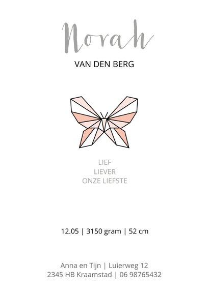 Geboorte grafische vlinder 3