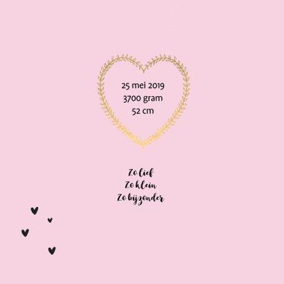 Geboorte hart goudlook 2