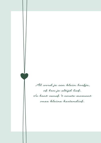 Geboorte - Hip groen met hartjes 2