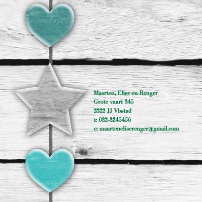 Geboorte Hout ster harten print 2
