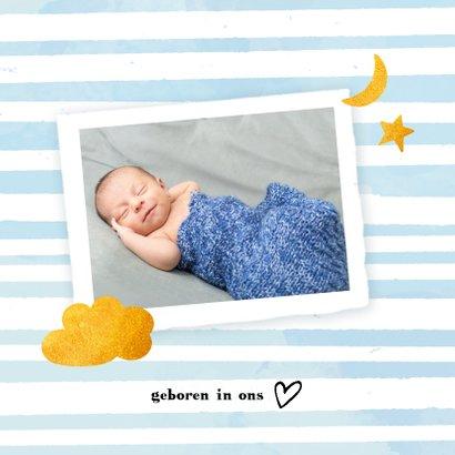 Geboorte jongen aqua streep 2