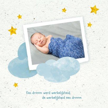 Geboorte jongen in de wolken 2