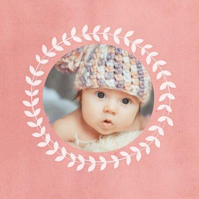 Geboorte Meisje cirkel blaadjes 2