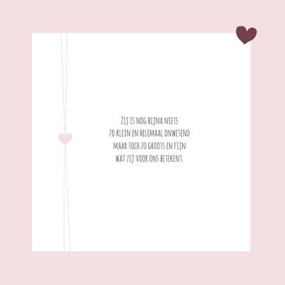 Geboorte -Meisje, hartje en foto 2