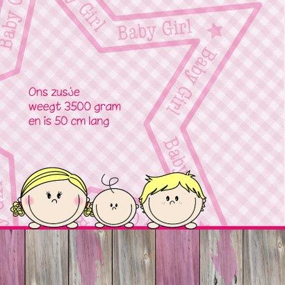Geboorte Meisje, jongen met Zus 2