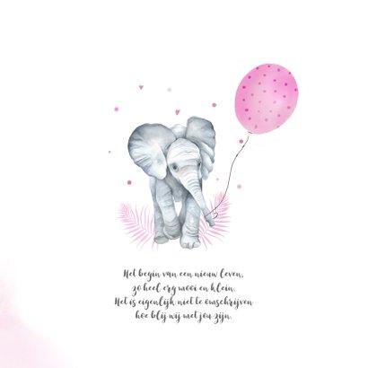 Geboorte meisje olifant ballon 2