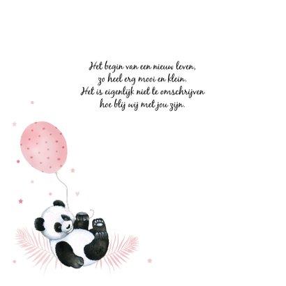 Geboorte meisje pandabeertje ballonnetje 2