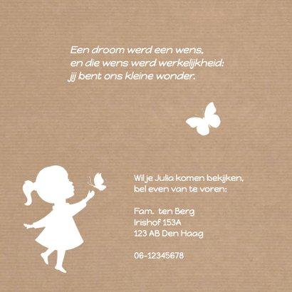 Geboorte Meisje Silhouet Vlinder 2