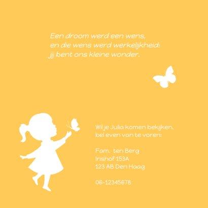 Geboorte Meisje Vlinder Silhouet 2