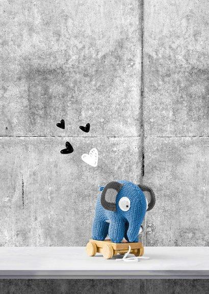Geboorte olifant en poster in interieur 2