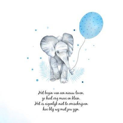 Geboorte olifantje ballon 2