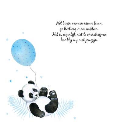 Geboorte panda ballonnetje 2
