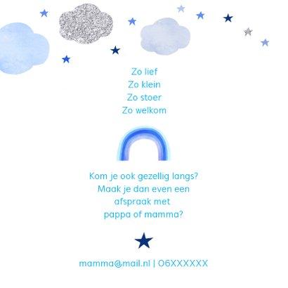 Geboorte regenboog wolken 2