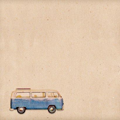 Geboorte retro busje blauw - BK 2