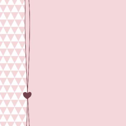 Geboorte, roze driehoeken foto 2