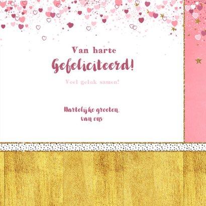 Geboorte schattig kaartje met een lief kindje en hartjes 3