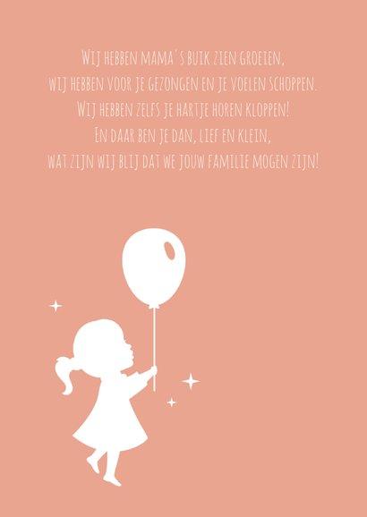 Geboorte Silhouet Ballon Sterren 2