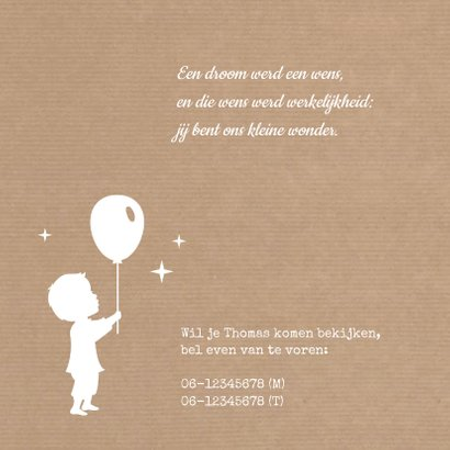 Geboorte silhouet Jongen kraft 2