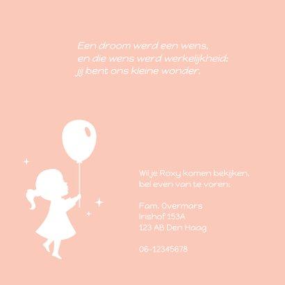 Geboorte Silhouet Meisje Eendje 2