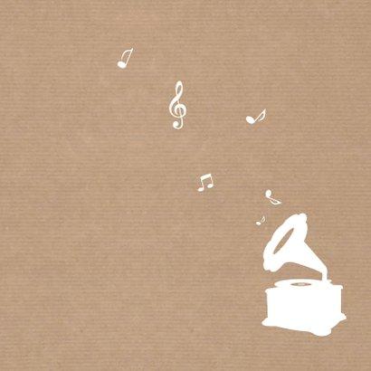 Geboorte Silhouet Muziek Kraft Achterkant