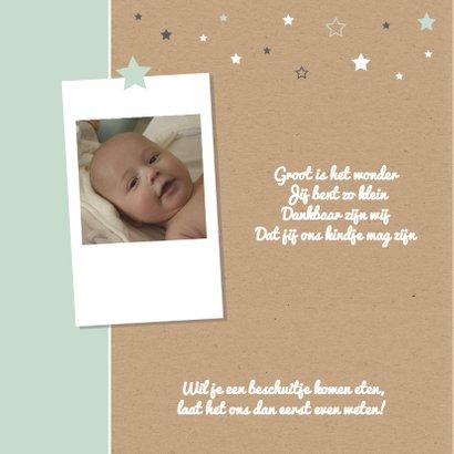 Geboorte- Sterren met foto zoon 2
