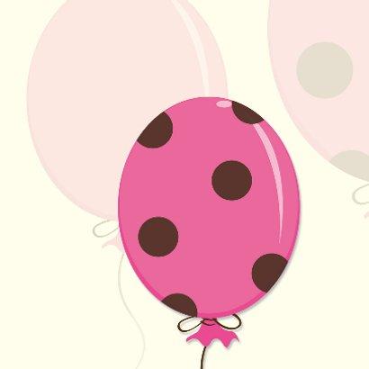 Geboorte vieren met roze ballon 2