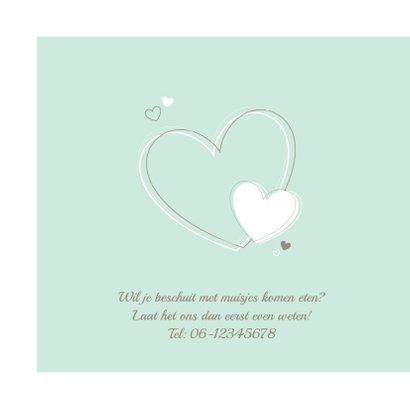 Geboorte - Vrolijke hartjes mintgroen 2