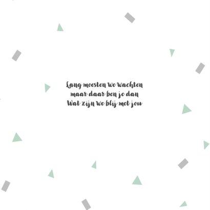 Geboortekaart confetti mint - BC 2