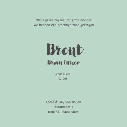 Geboortekaart confetti mint - BC 3