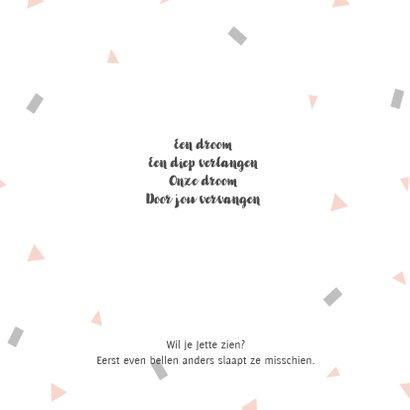 Geboortekaart confetti roze - BC 2