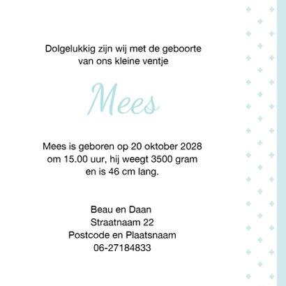 Geboortekaart  Hollandse klompen jongen 3