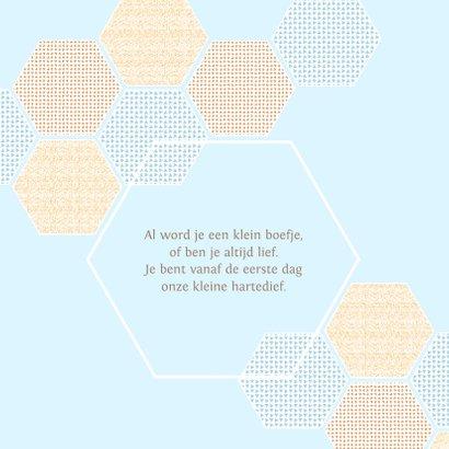 Geboortekaart jongen 6-hoekjes met confetti 2