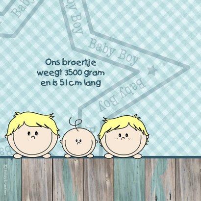Geboortekaart jongen en broertje 2