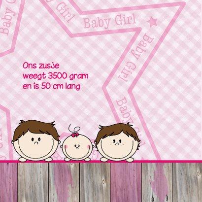 Geboortekaart Jongens en ZUSJE 2
