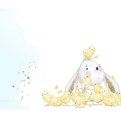 Geboortekaart konijntje - jongen 2
