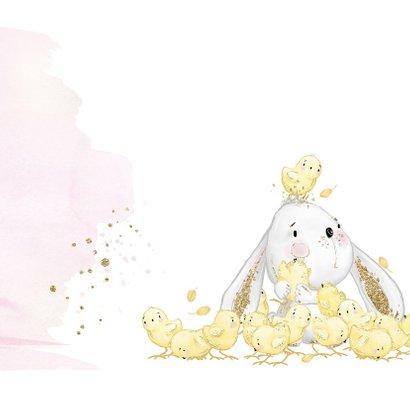 Geboortekaart konijntje - meisje 2