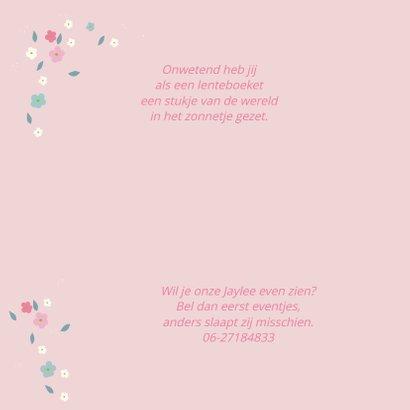 Geboortekaart lentebloesem Jayle 2