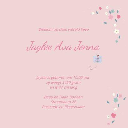 Geboortekaart lentebloesem Jayle 3