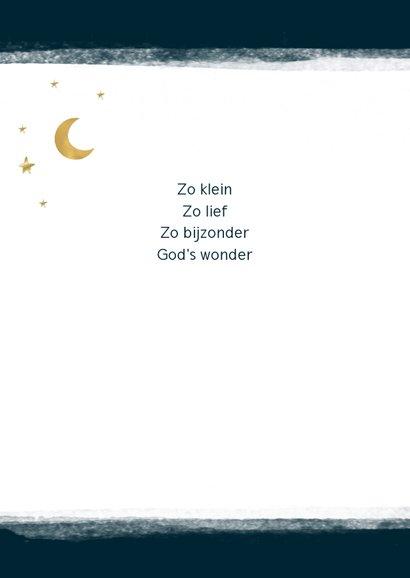 Geboortekaart maan en sterren, aanpasbare kleur 2