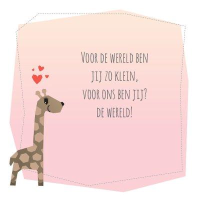 Geboortekaart - Meisje Giraffe 2