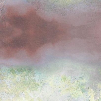 geboortekaart meisje met aquarelachtergrond en hartjes Achterkant