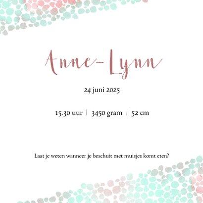 Geboortekaart meisje met dierenprint roze-groen 3