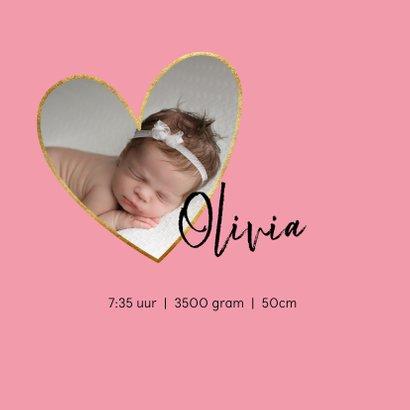 Geboortekaart meisje met foto en zwart-wit dieren patroon 2