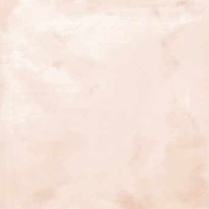 Geboortekaart meisje zalm-roze met gouden hartjes Achterkant